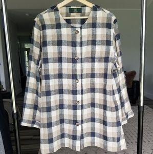 Orvis Vintage 100% linen lagenlook tunic size 14
